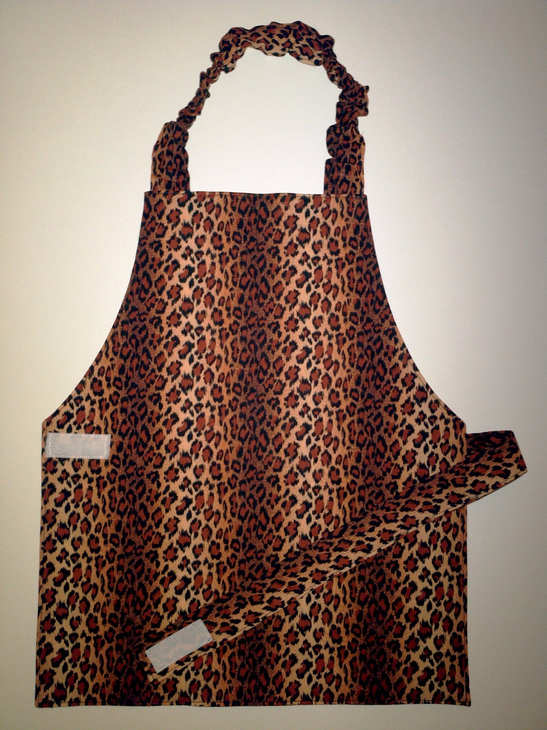 Leopard print apron wild animal print child's by EverSewSweet