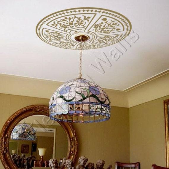 Ceiling Medallion Shabby Chic Decorative Vinyl By