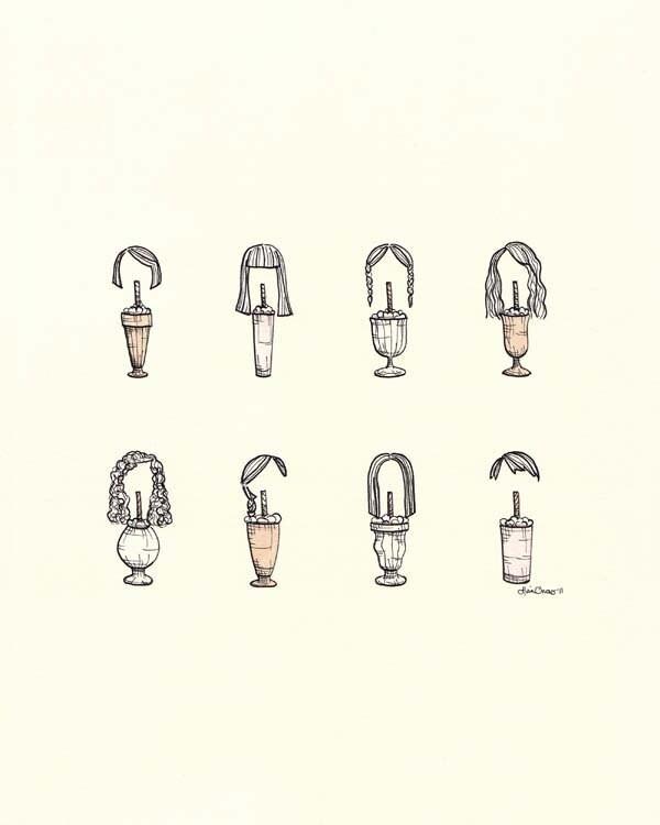 Eight Maids a-Milking Print -8x10