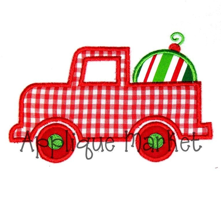 Items similar to machine embroidery design applique truck