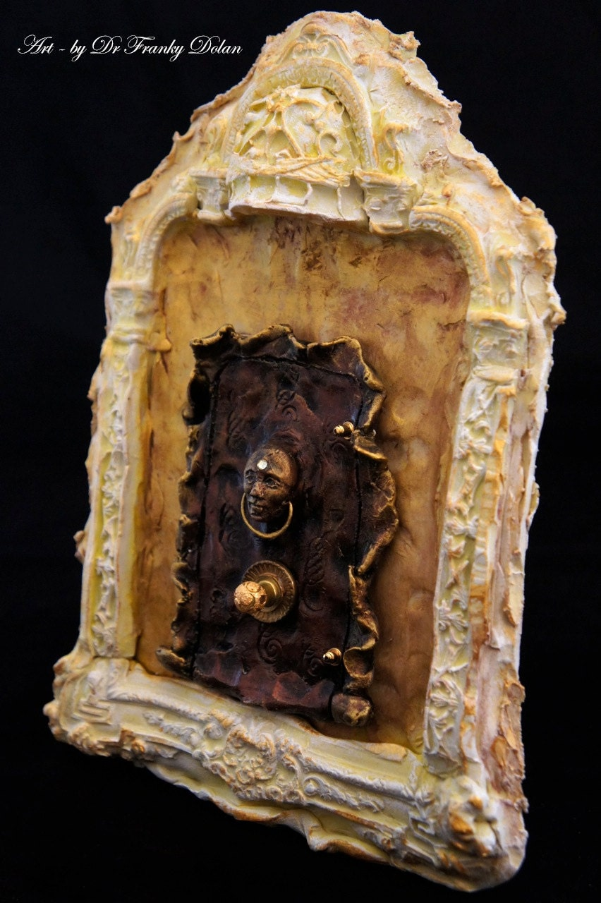 Fairy Door (Faerie Dream Door) doll house, furniture, room etc - by Fae Factory Steampunk Door Artist, Dr Franky Dolan (Original Fairy Door)