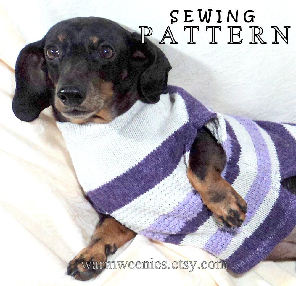 Dachshund Sweater Pattern Sewing Cardigan Crochet Tutorial