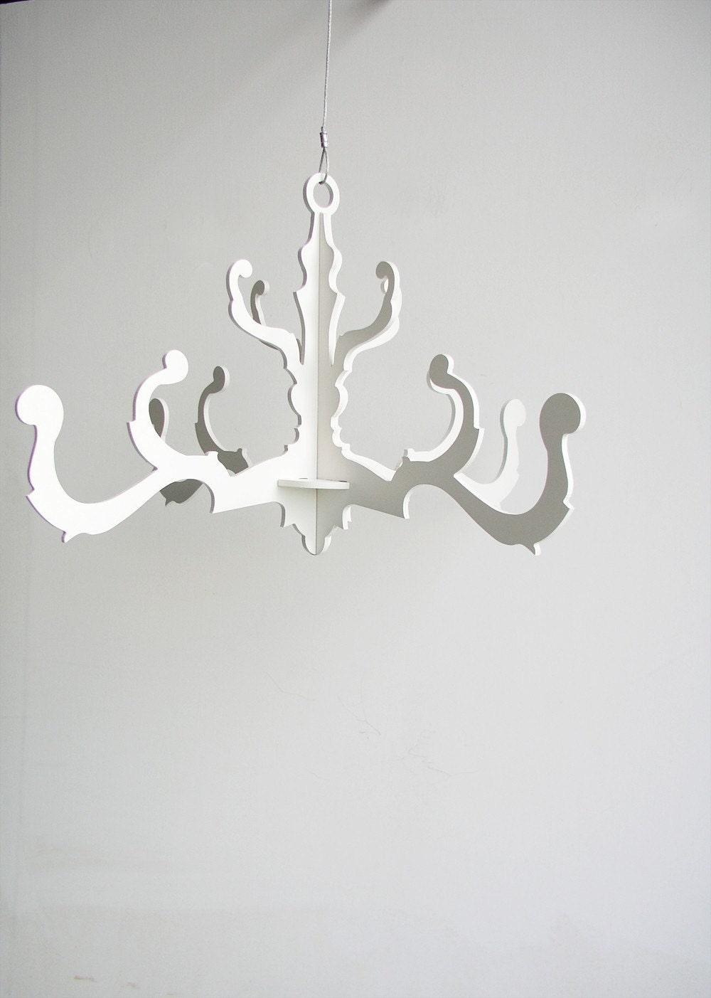 fancy chandelier in white