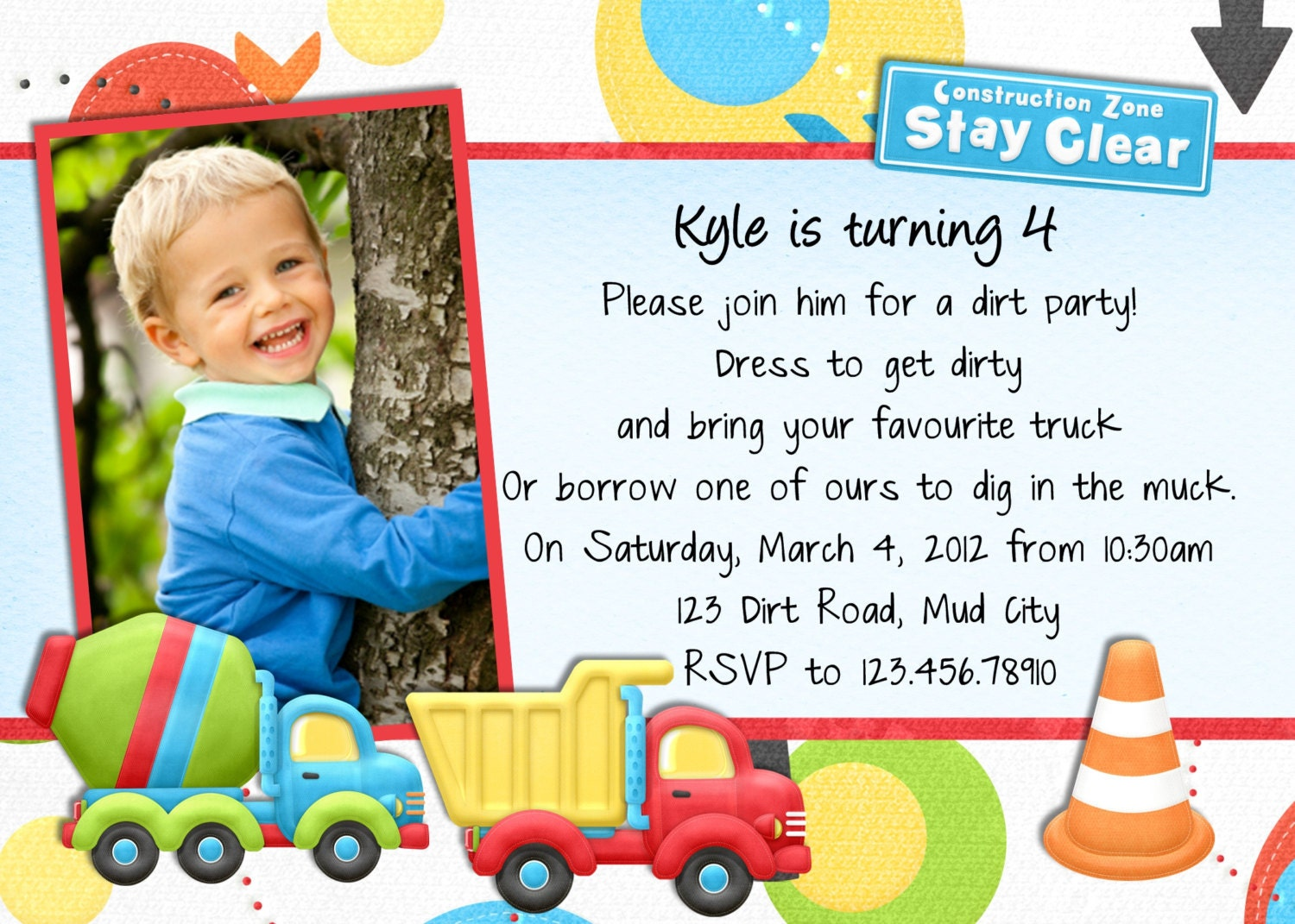 Truck Birthday Invitations is one of our best ideas you might choose for invitation design
