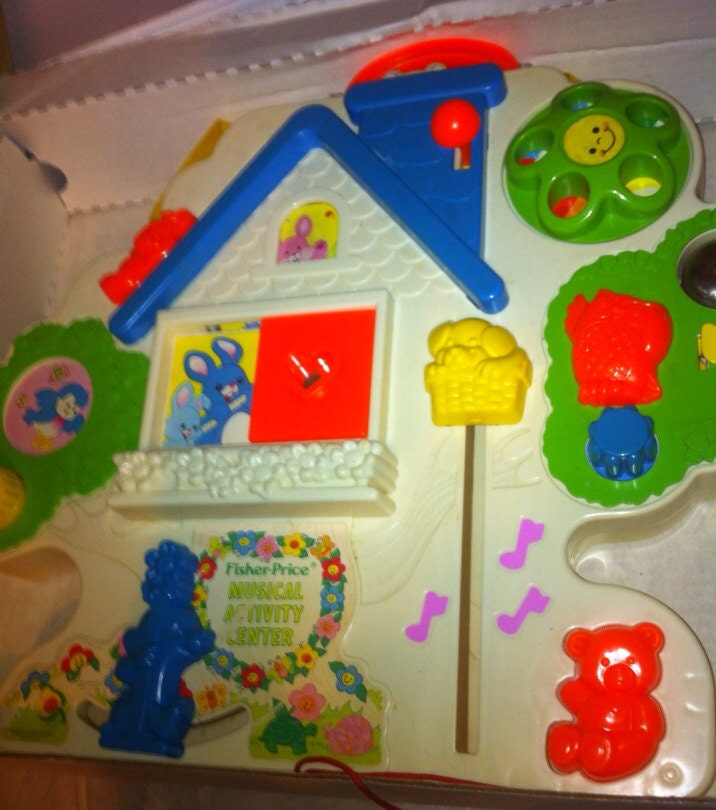 Fisher Price Crib Toys : Vintage fisher price baby crib toy musical by