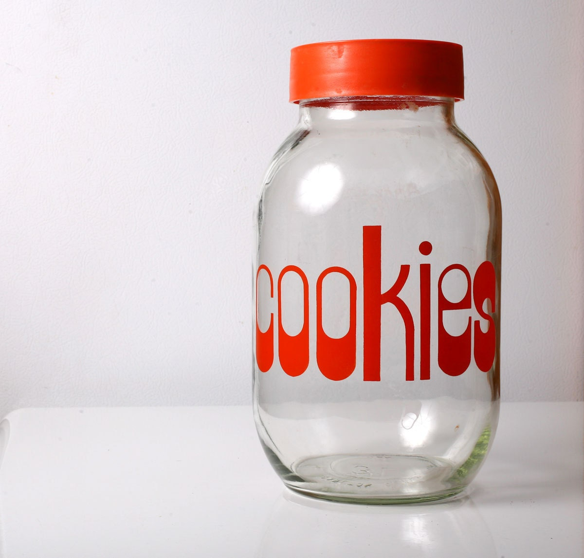 Funky Cool Vintage 1970s Cookie Jar with Great Typography - TheVintageHog