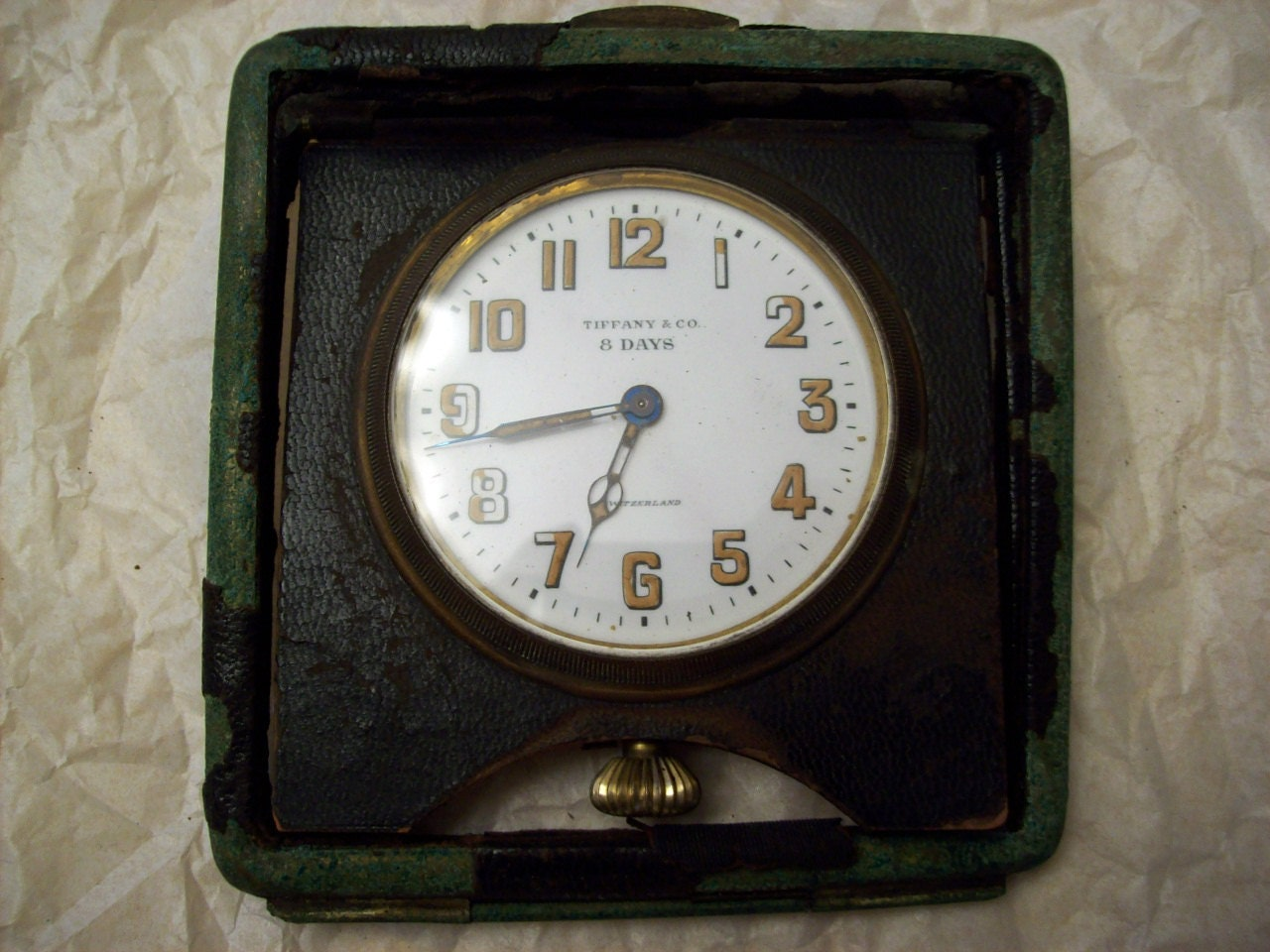 Vintage Tiffany 8 Day Travel Clock By Chinwacollection On Etsy
