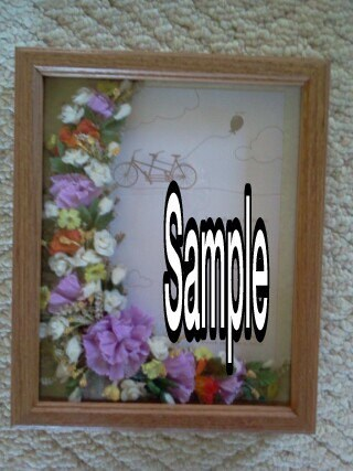 Wedding Gift Shadow Box : Shadow Box 8x10 Picture Frame Floral Arrangement Wedding Gift ...