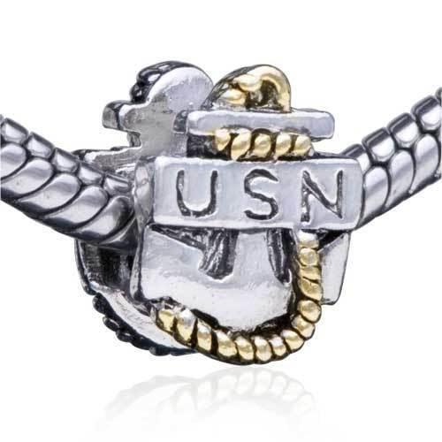 items similar to us navy anchor pandora bracelet bead