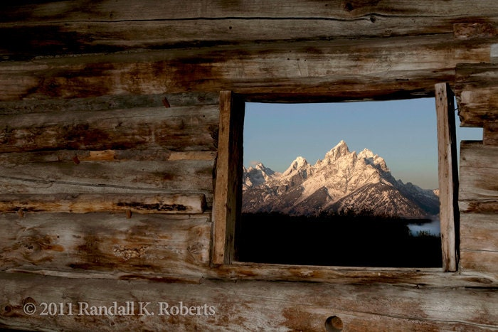 Items Similar To Photograph Rustic Pioneer Cabin Window