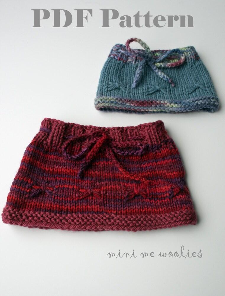 Knitting Pattern For Dolls Skirt : DIGITAL KNITTING PATTERN Flutterfly Doll Skirt by by ...