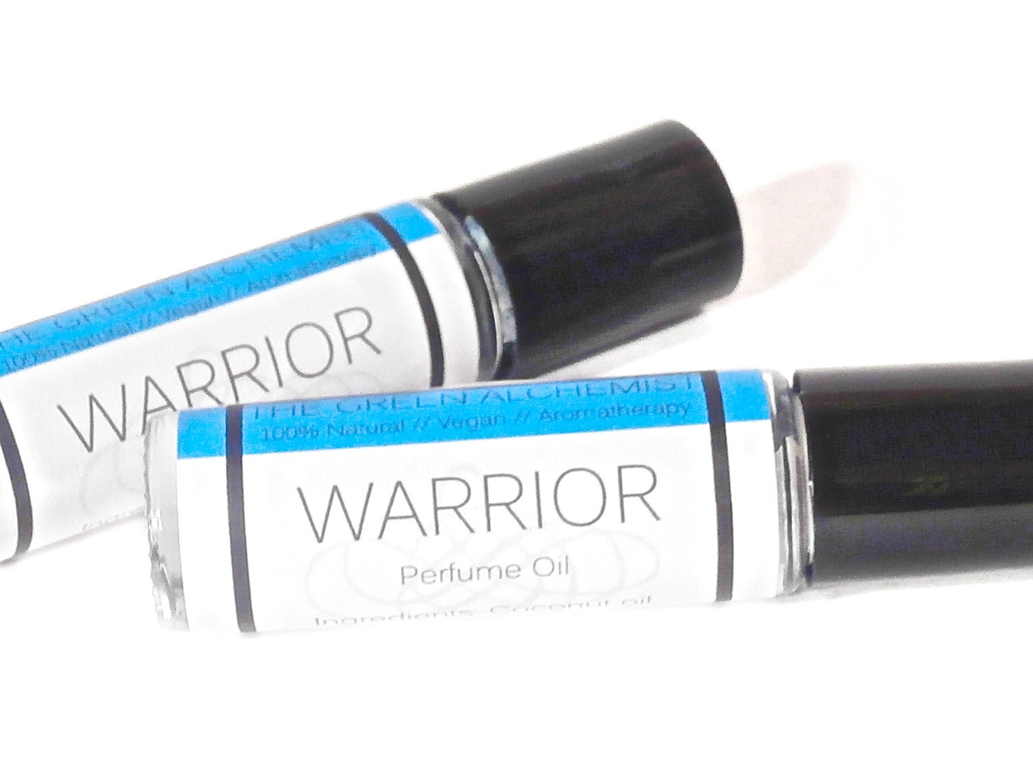 Warrior Cologne Oil Sample // Men's Roll On Cologne Oil // Phthalate Free Fragrance // Vegan // 2 Sample Vials - TheGreenAlchemist