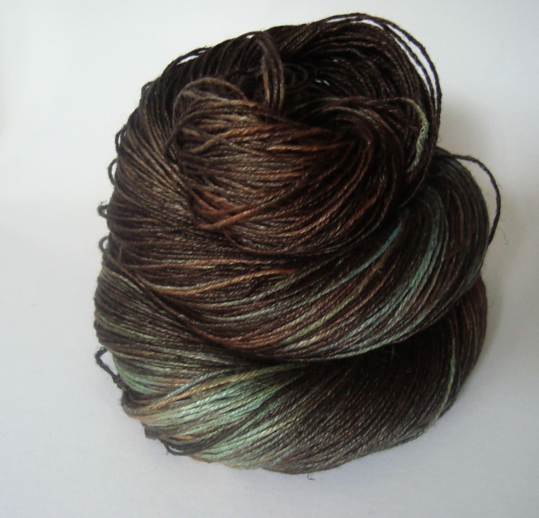 Linen Yarn : Crochet Hand dyed Linen Yarn