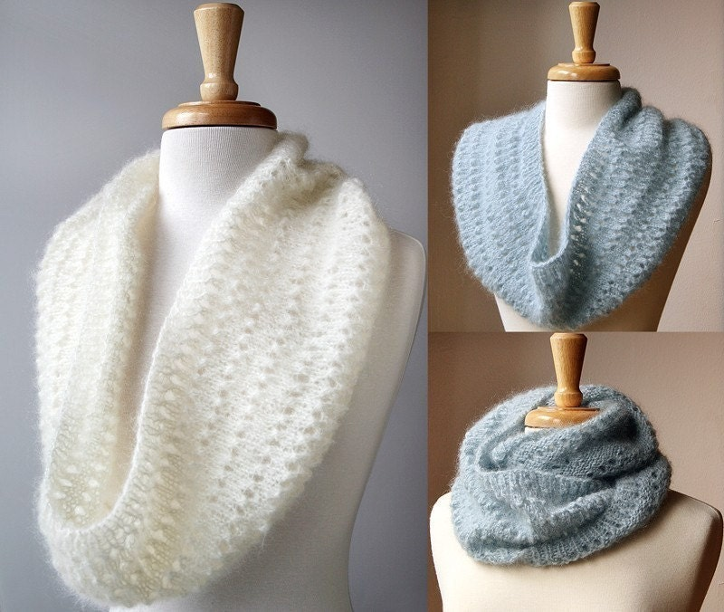 针织:马海毛围巾 - maomao - 我随心动
