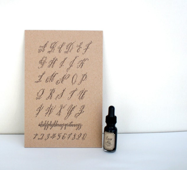 Maybelle calligraphy alphabet how to chart by inkandbelle