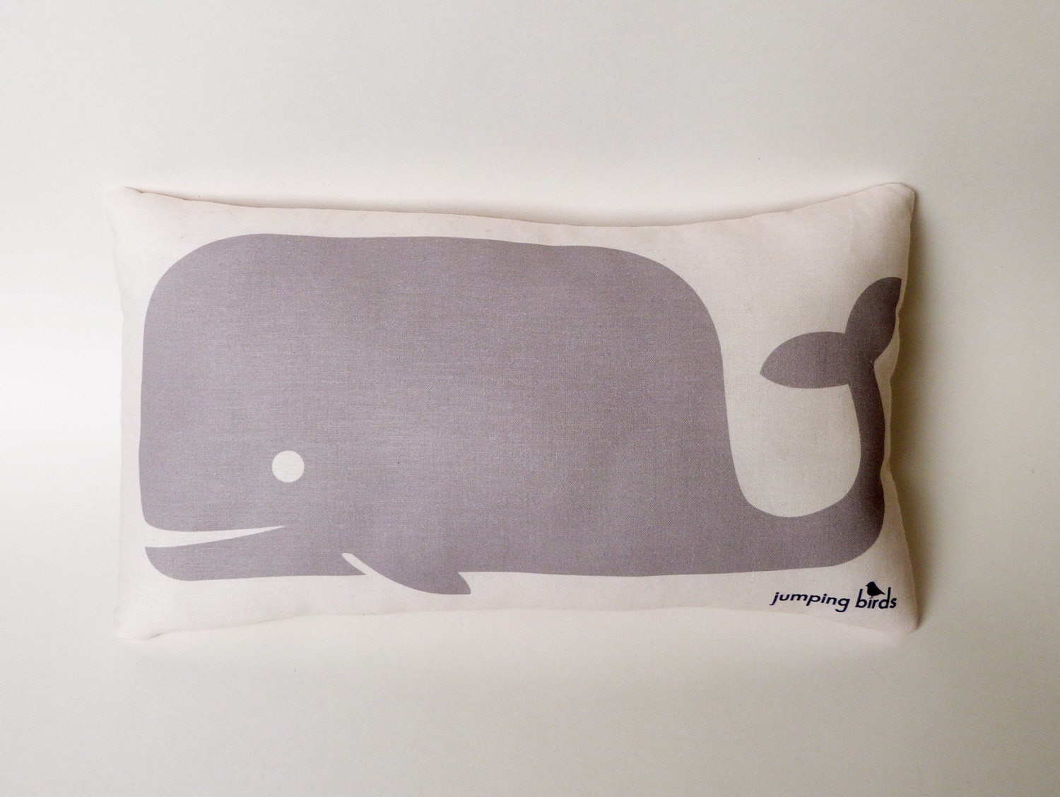 Whale Pillow/ Light Gray/ Whale Cushion/ Decor/ Nursery/ Baby Gift/ Kids Room/ Children's Decor/ Decoration/ Nap Pillow/ Modern Nursery