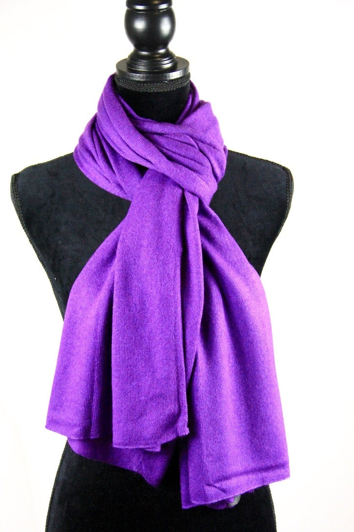 Men Pure Cashmere Knit Scarf Ladies Shawl Purple Cashmere Knit Wrap Unisex Cashmere Scarf Knit Winter Warm Cashmere Travel Blanket