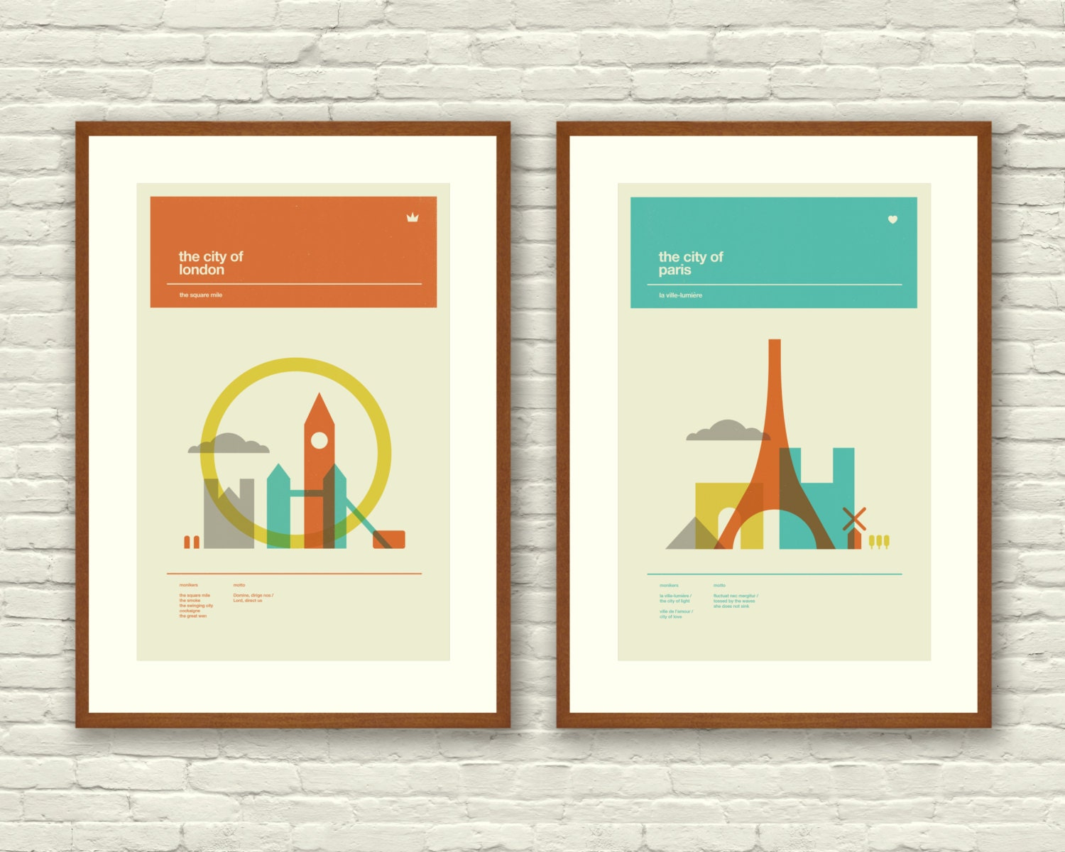 London and Paris Posters City Art Prints 12 by ...