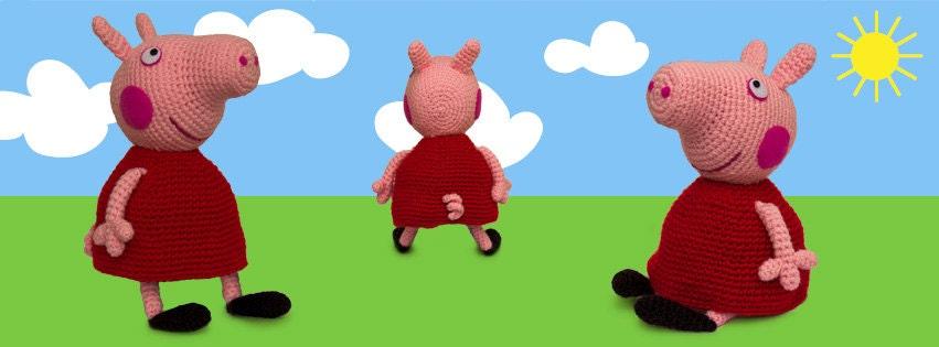 Patron Amigurumi Peppa Pig Grande : ETSY.COM Modeles AMIGURUMIS