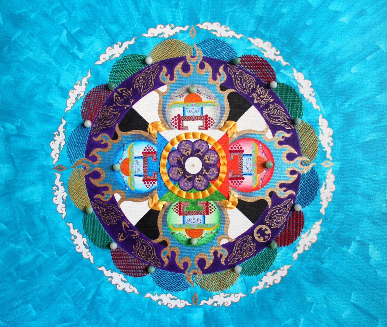Mandala : Spiritual Painting and Ribbon Art, artteam