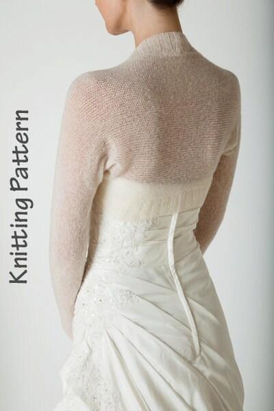 Bolero Knitting Pattern : Knitting Pattern Bolero knitted in one piece by Weddingbolero