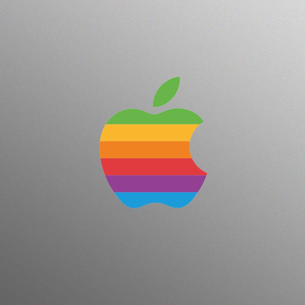 Retro Apple Logo Decal Laptop Sticker for Apple MacBook Pro (Late 2016 onwards)