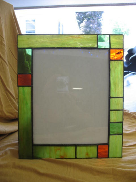 stained glass 8 x 10 picture frame by bettasboutique on etsy. Black Bedroom Furniture Sets. Home Design Ideas