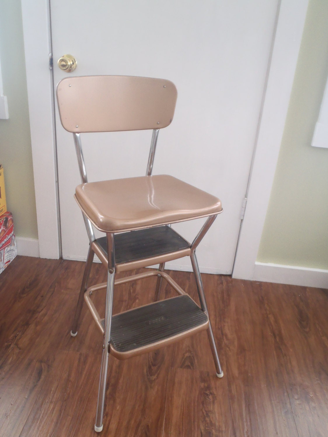 vintage cosco kitchen step stool chair with by