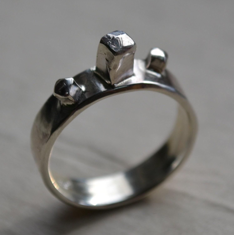 Wedding Ring Handmade Artisan Designed Sterling Silver Wedding