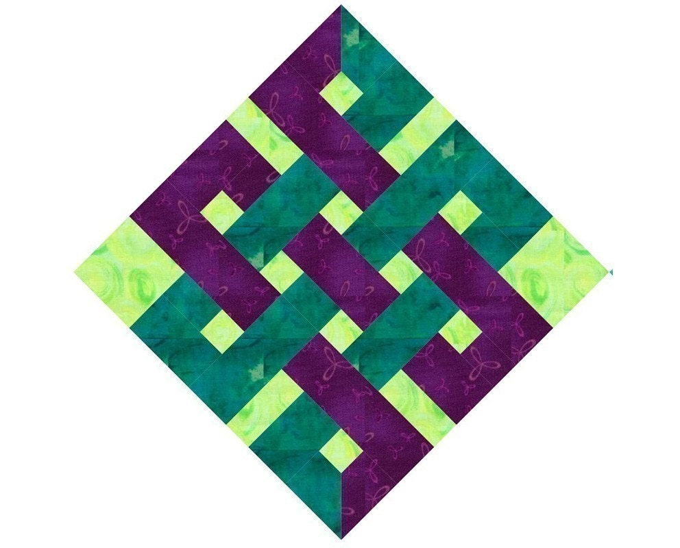 Eternity Knot Paper Pieced Quilt Block By Piecebynumberquilts