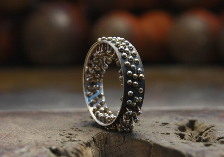 93 Holes Silver Ring - ArnaldClimentJoies