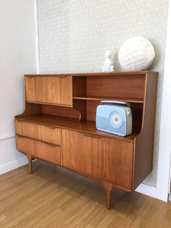 Teak Retro  Bureau  CabinetMid Century Design 1960s 1970s Sutcliffe S Form