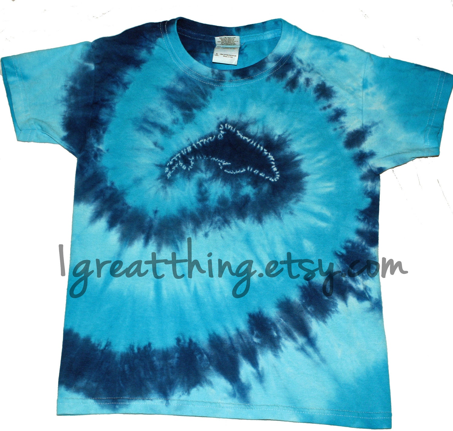 Dolphin Tie Dye T Shirt Plus Sizes By One Great By 1greatthing