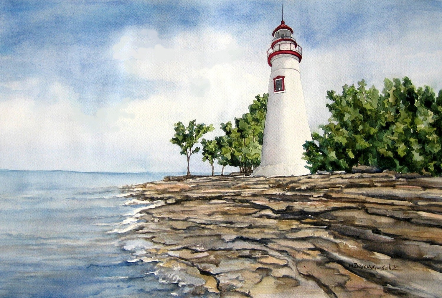 Marblehead Lighthouse On Lake Erie Great By