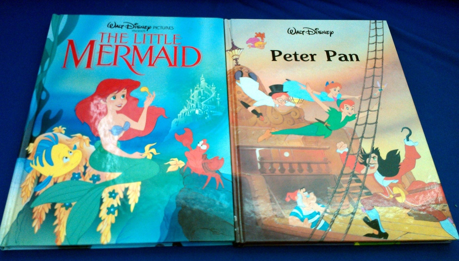 disney books the little mermaid peter pan 1990s by