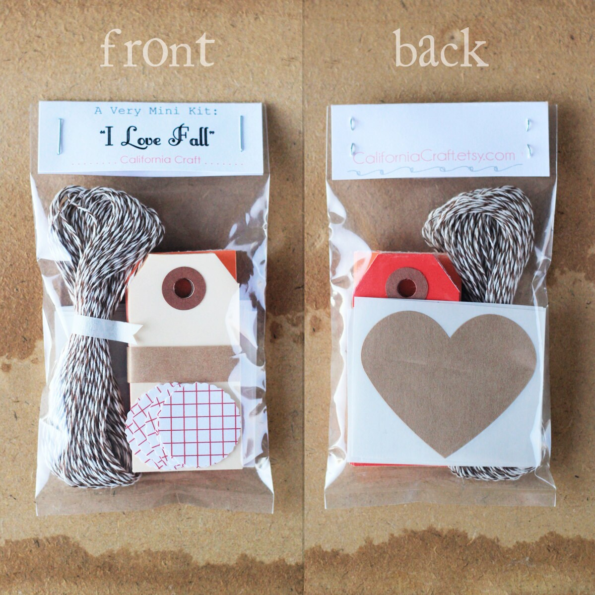 "Mini Gift Wrapping Kit / Scrapbooking Kit - ""I Love Fall"""