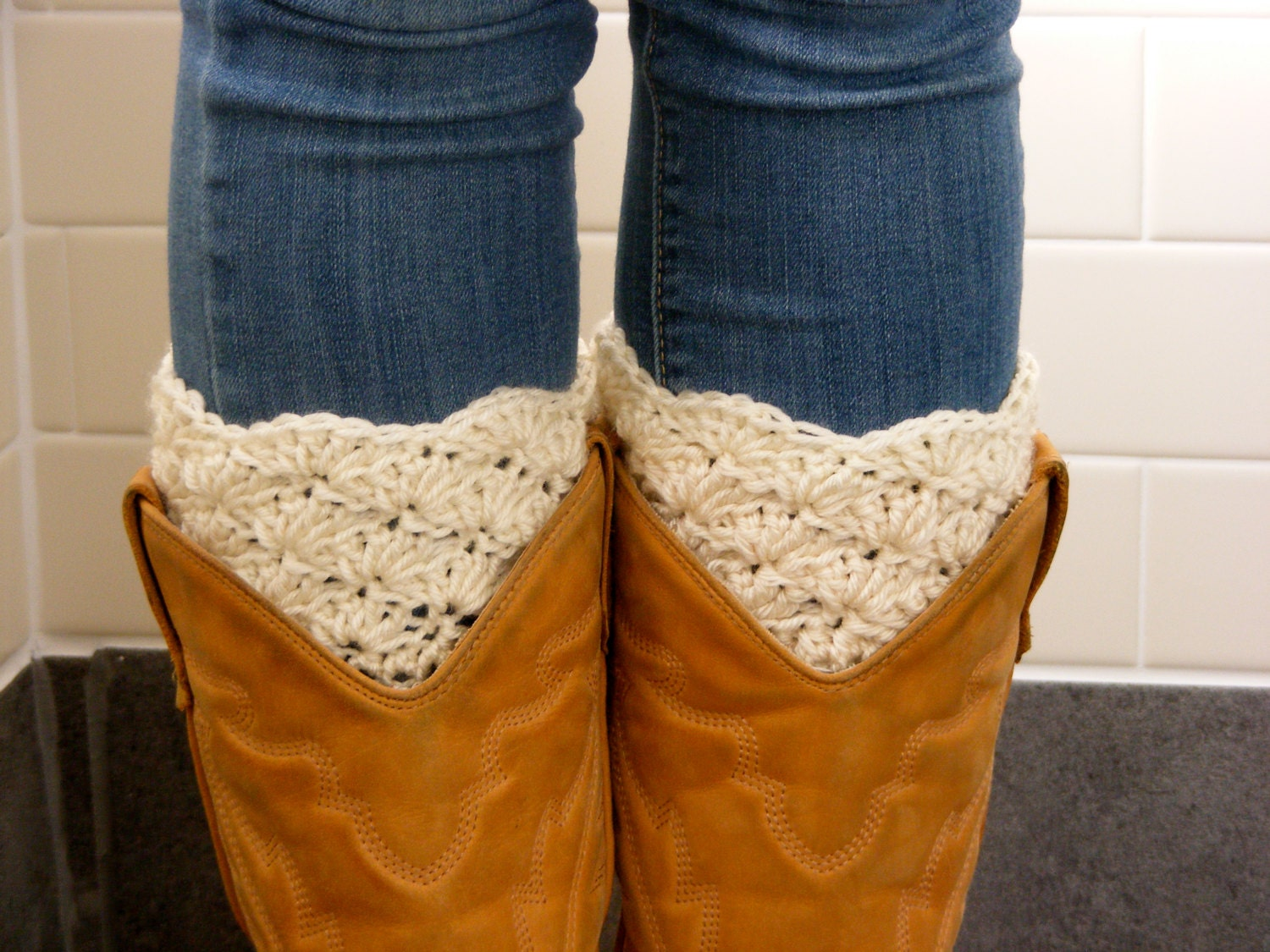 Crochet Boot Cuffs With Lace Pattern : Etsy - Your place to buy and sell all things handmade ...