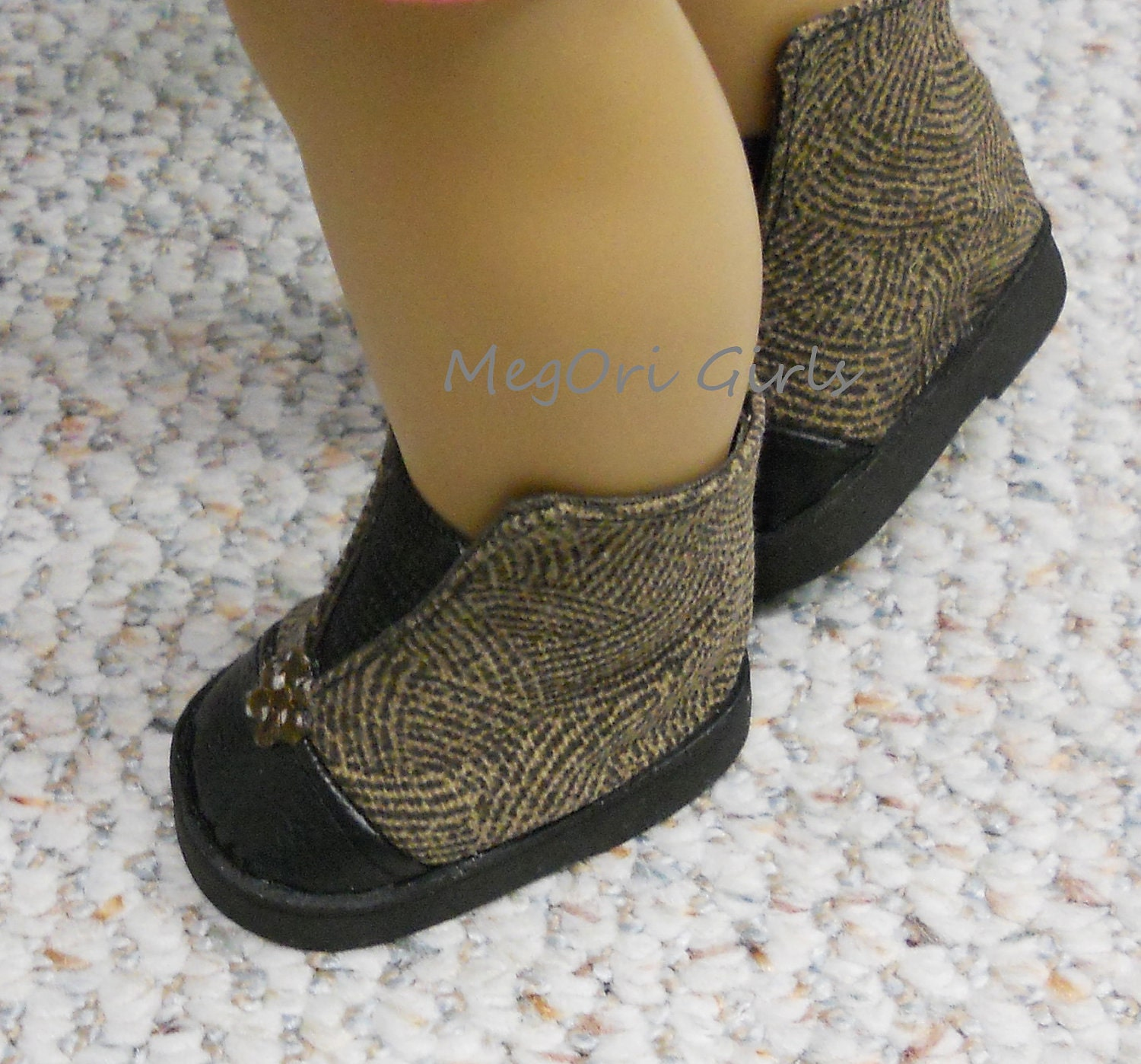 18 inch american girl doll ankle boots brown black