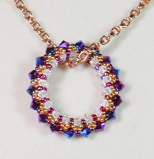 bead weaving pendant necklace circle of by