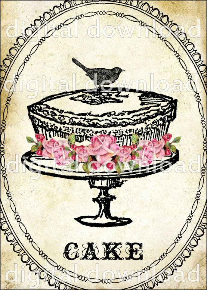 Cake Arts Bakery And Supplies : Items similar to WHiMSiCaL CaKe ViNTaGe DeSiGN Digital ...