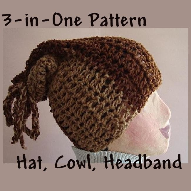 Beginner Crochet Patterns Cowl : CROCHET PATTERN no 34 ITS A HAT ITS A COWL ITS A by ...