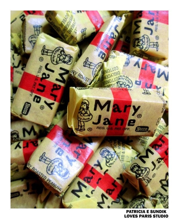 Mary Jane Candy Photo Poster, 16 x 20,  Food Fine Art Poster