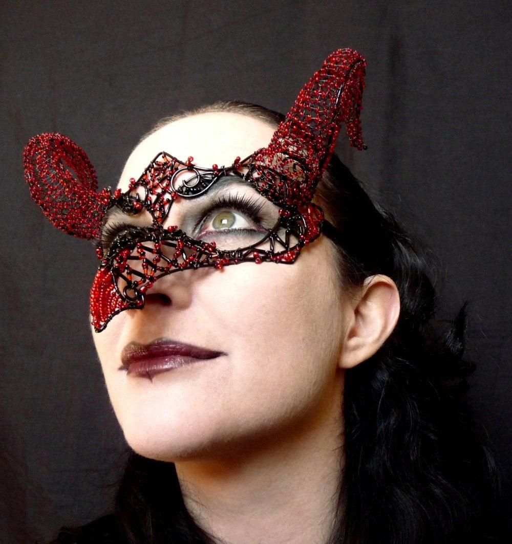 Firedrake masquerade mask, handmade, womens, costume, accessories, dragon