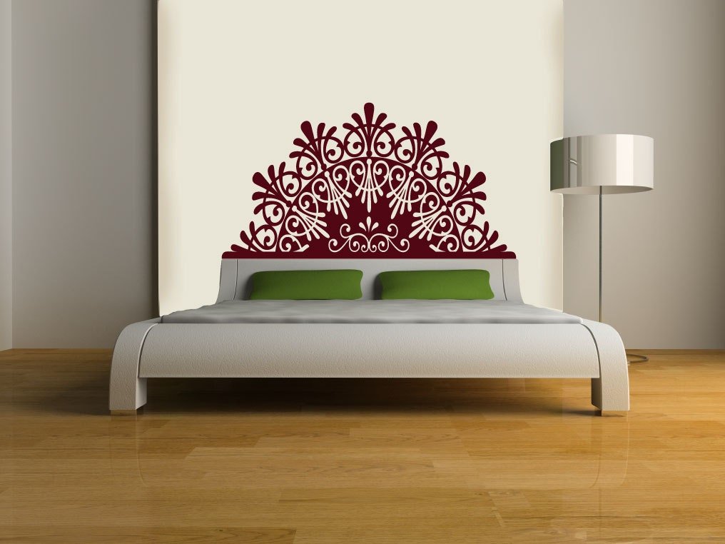 Elegant Headboard Wall DECAL BED interior design by EyvalDecal