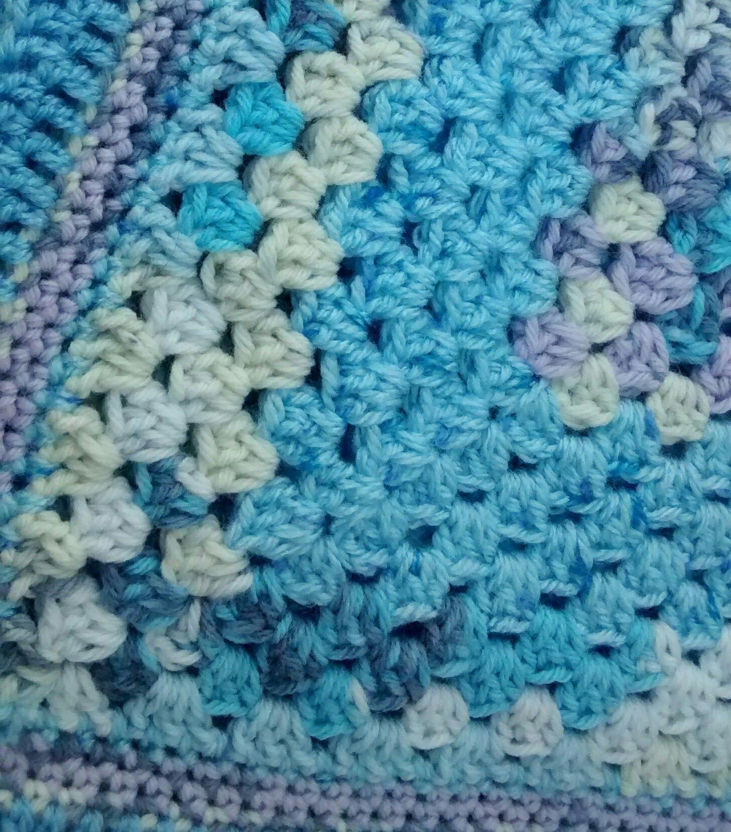 Baby Blanket  Blue Blanket  Handmade Crochet Blanket   Baby Pram Blanket   Granny Square Blanket  Baby Boy  Baby Shower Gift