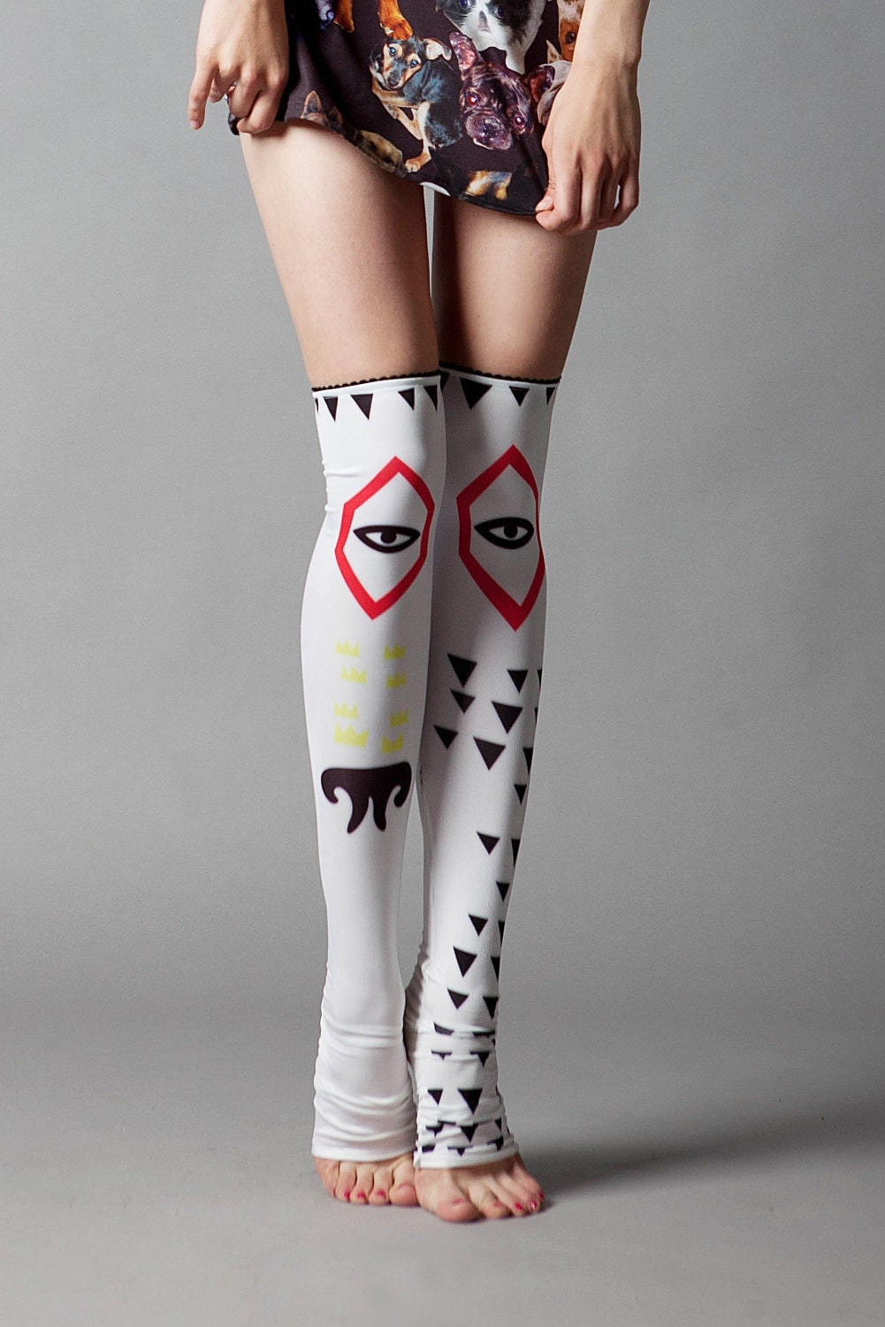 Dog Eye stockings - QooQooFashion