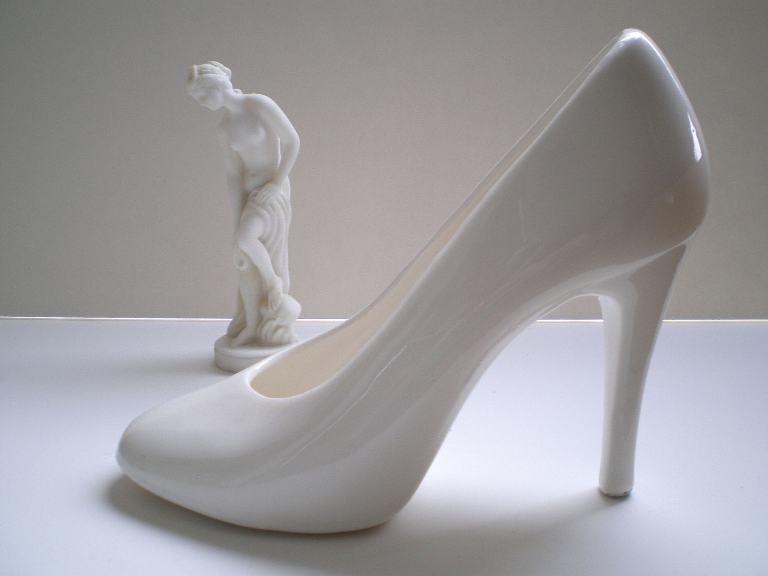 Life size ceramic high heel planter or figurine by tasticlife