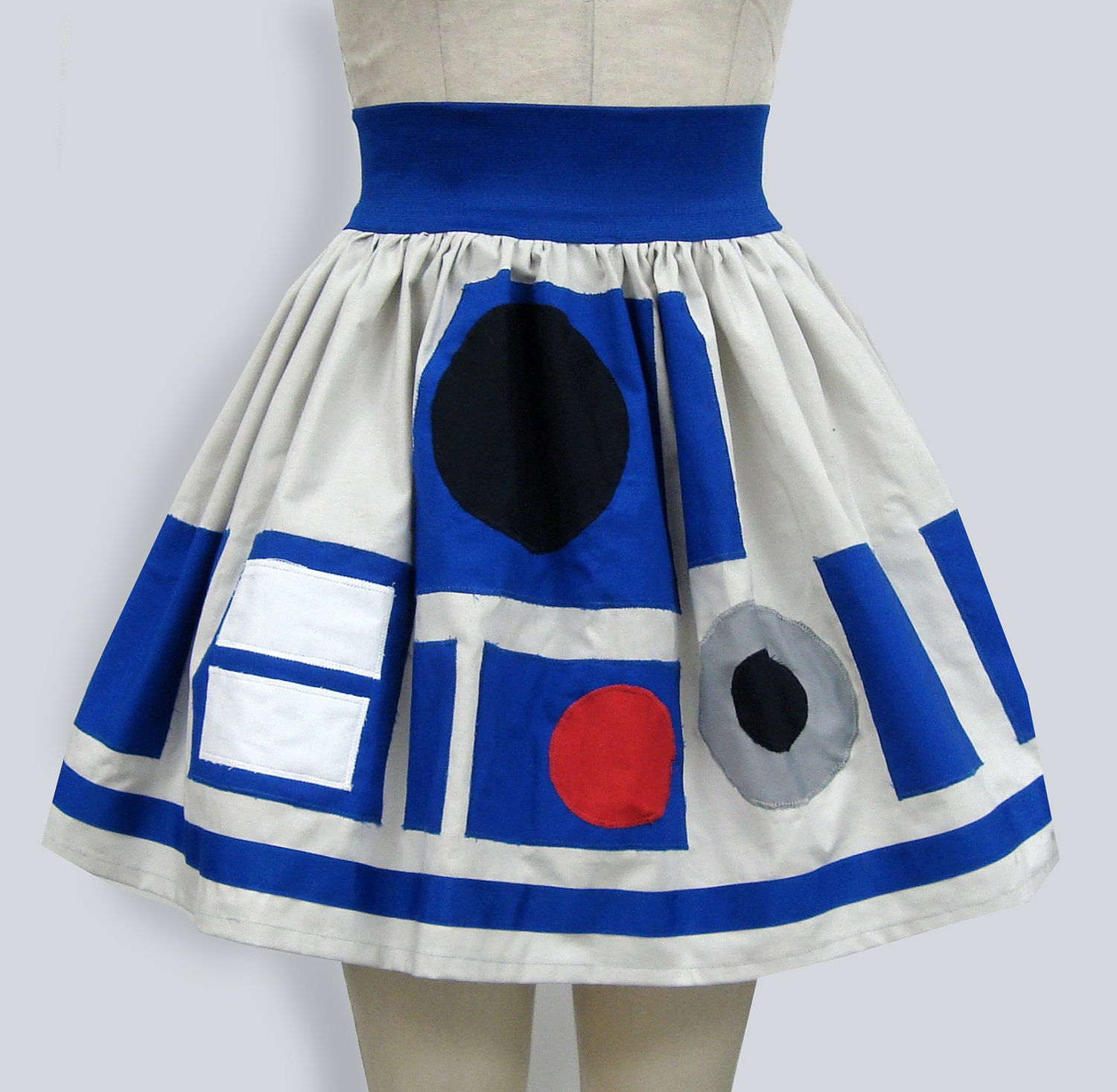 R2D2 Star Wars Inspired Full Skirt