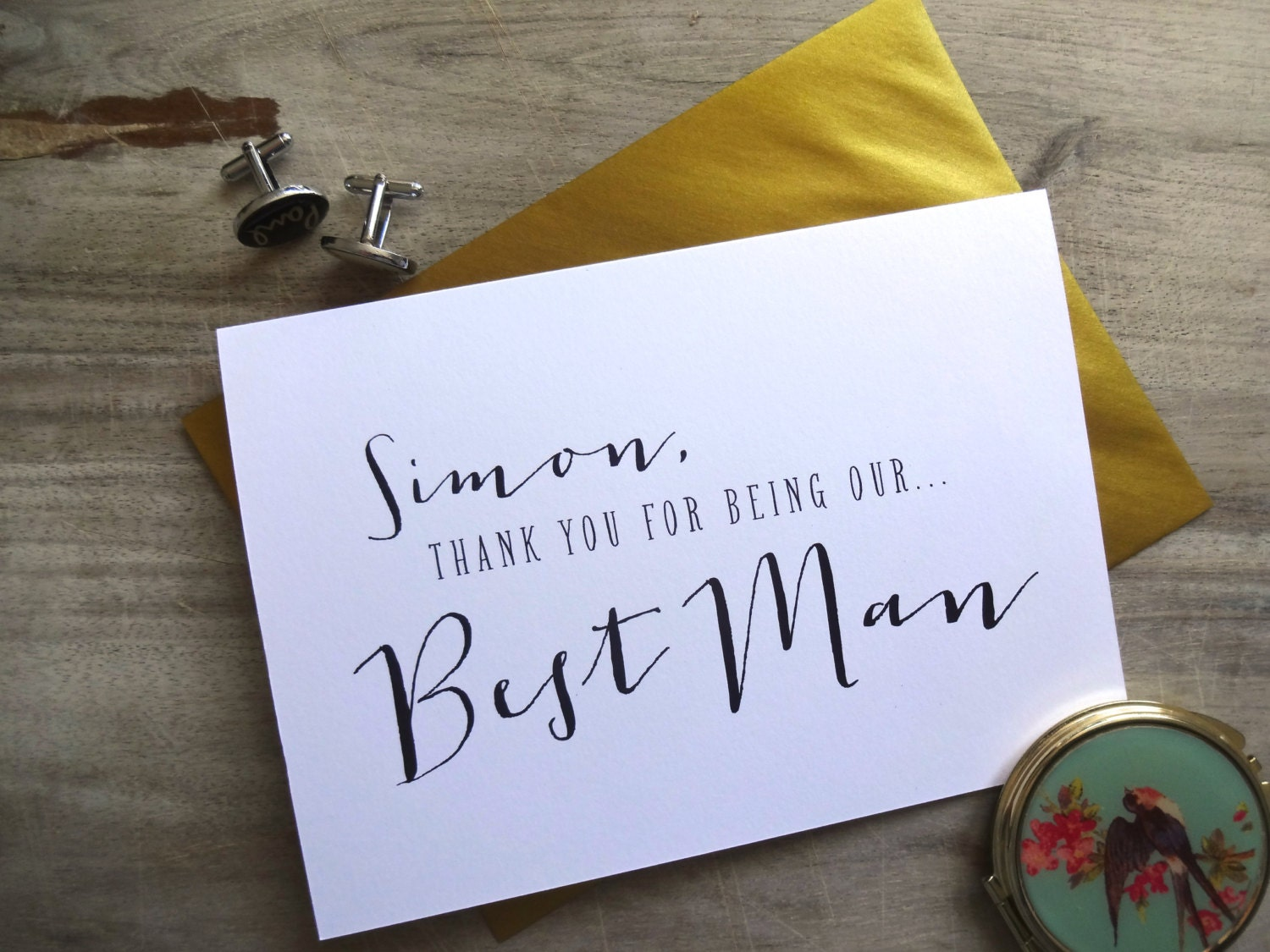 Thank You for being Our Best Man on our Wedding Day Card. 5x7. To My Best Man Card Wedding Card.  Gift to Best Man Card for Groom.
