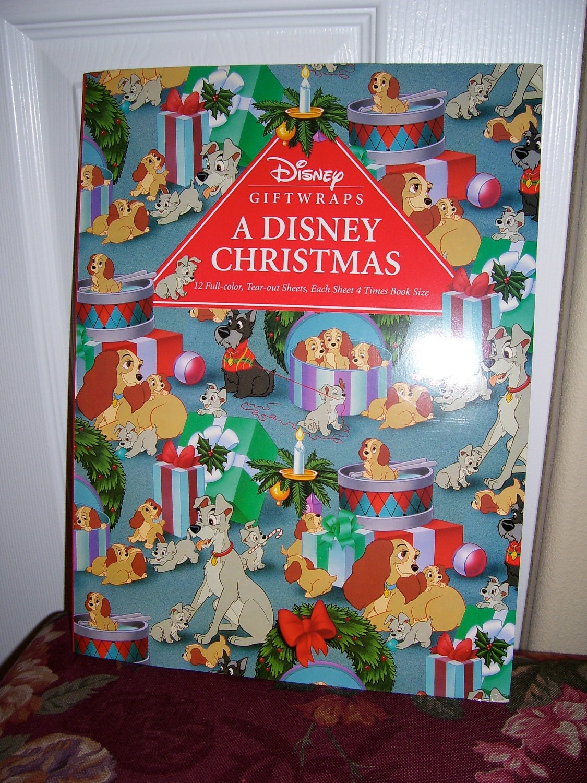 walt disney christmas gift wrap 12 full by